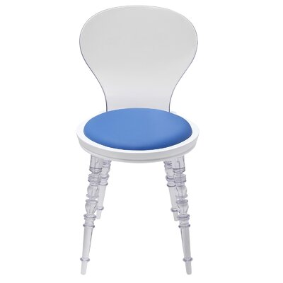 Wynona Side Chair Upholstery: Blue