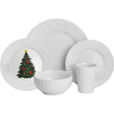 20-Piece Radiant Christmas Dinnerware Set