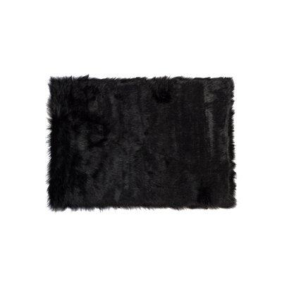 Shawnta Black Area Rug Rug Size: 5 x 8