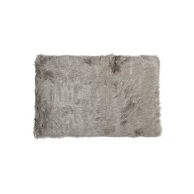 Shawnta Faux Sheepskin Gray Area Rug Rug Size: Rectangle 2 x 3