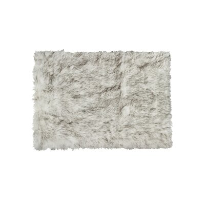 Shawnta Faux Sheepskin Gradient Gray Area Rug Rug Size: Rectangle 3 x 5
