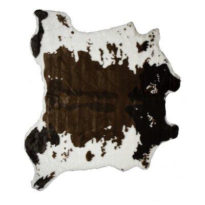 Chocolate/White Area Rug