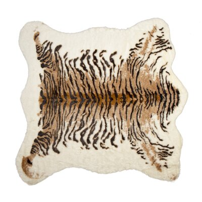Natural Faux Cowhide Brown/Black Area Rug