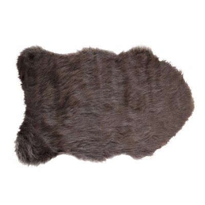 Shayne Faux Sheepskin Chocolate Area Rug