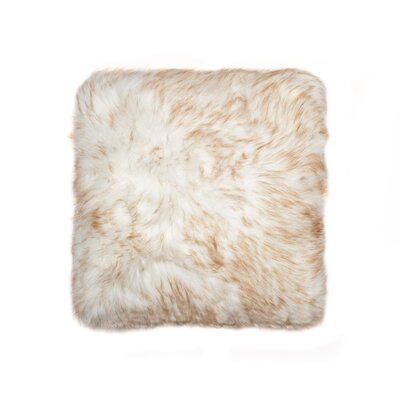 Belton Faux Fur Throw Pillow Color: Gradient Tan