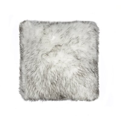 Belton Faux Fur Throw Pillow Color: Gradient Gray