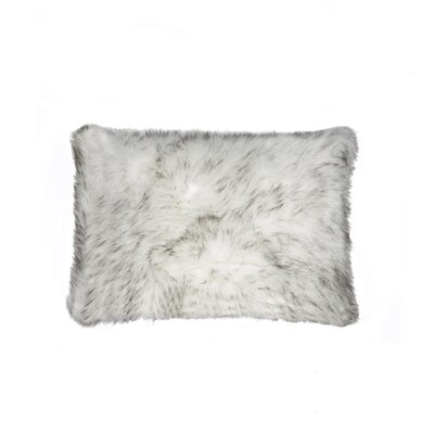 Belton Faux Fur Lumbar Pillow Color: Gradiant Gray