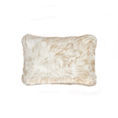 Belton Faux Fur Lumbar Pillow Color: Gradiant Tan