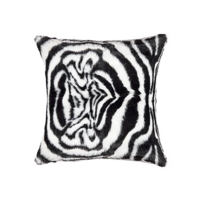 Belton Faux Fur Throw Pillow
