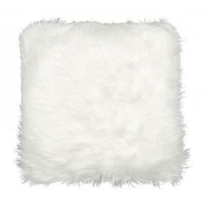 Gaetane Faux Fur Throw Pillow Color: Off-White