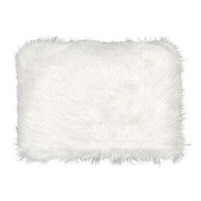 Gaetane Faux Fur Lumbar Pillow Color: Off-White