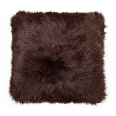 Gaetane Faux Fur Throw Pillow Color: Chocolate