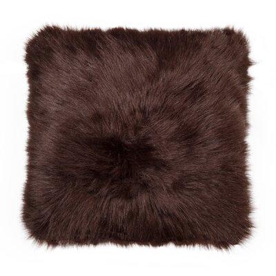 Belton Faux Fur Throw Pillow Color: Chocolate