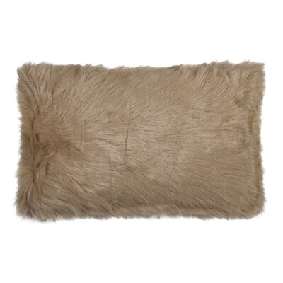 Gaetane Faux Fur Lumbar Pillow Color: Tan