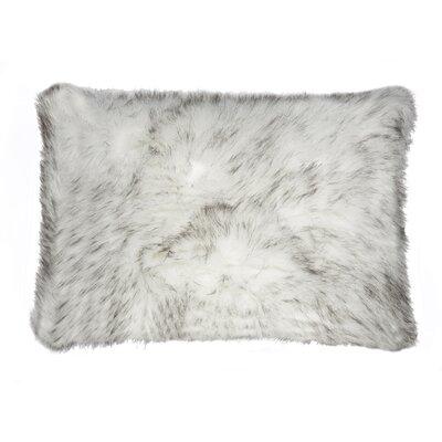 Belton Faux Fur Lumbar Pillow Color: Gradiant Gray