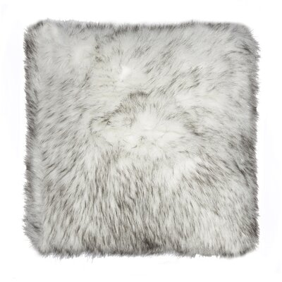 Belton Faux Fur Throw Pillow Color: Gradient Gray