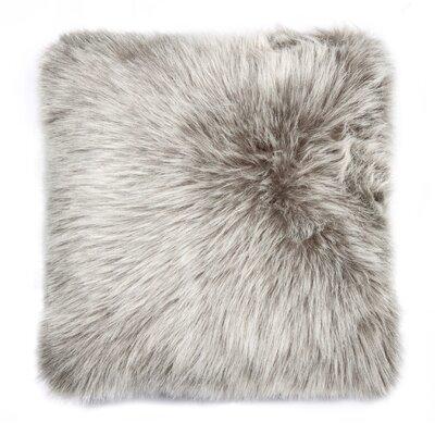 Gaetane Faux Fur Throw Pillow Color: Gray