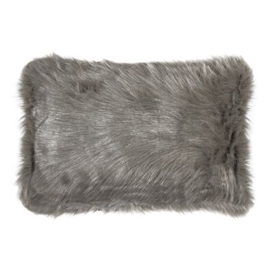 Gaetane Faux Fur Lumbar Pillow Color: Gray