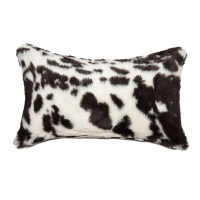 Weehawken Jamal Faux Fur Lumbar Pillow Color: Brown & White