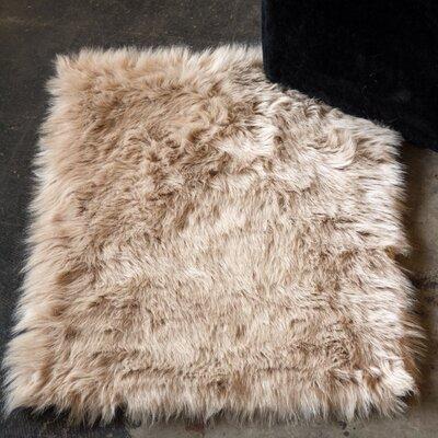 Shawnta Faux Sheepskin Tan Area Rug Rug Size: 2 x 3