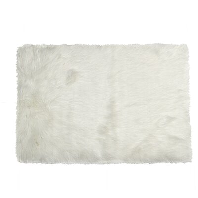 Shawnta Faux Sheepskin Off-White Area Rug Rug Size: 2 x 3