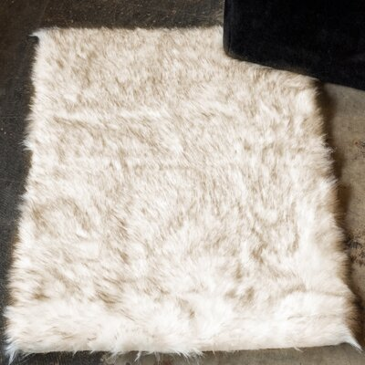Shawnta Faux Sheepskin Gradient Brown Area Rug Rug Size: Rectangle 3 x 5