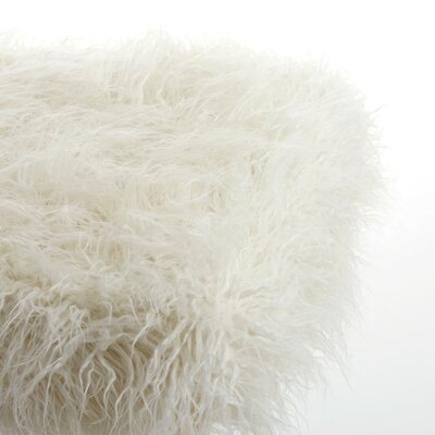 Rockwall Faux Sheepskin Stone White Area Rug