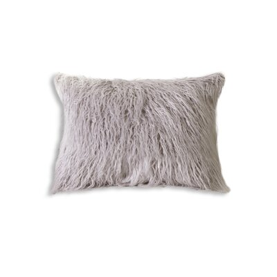 Frisco Faux Fur Lumbar Pillow Color: Sage Grey
