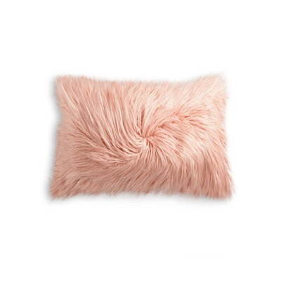 Frisco Faux Fur Lumbar Pillow Color: Dusty Rose