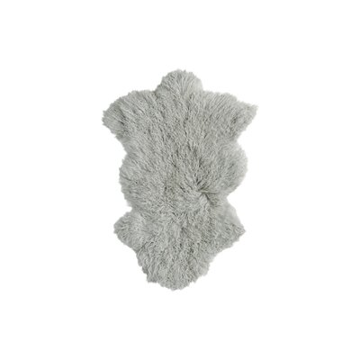 Rockwall Faux Sheepskin Sage Gray Area Rug