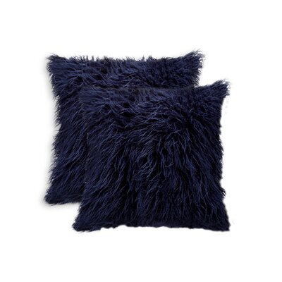 Frisco Faux Fur Throw Pillow Color: Ink