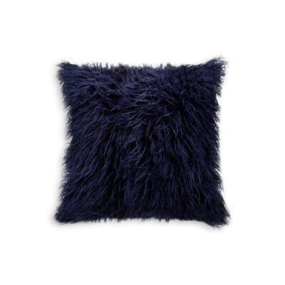 Frisco Faux Fur Throw Pillow Color: Ink