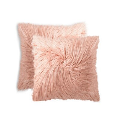 Frisco Faux Fur Throw Pillow Color: Dusty Rose