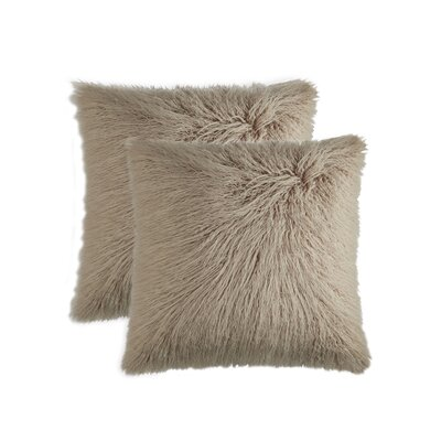 Frisco Throw Pillow Color: Tan