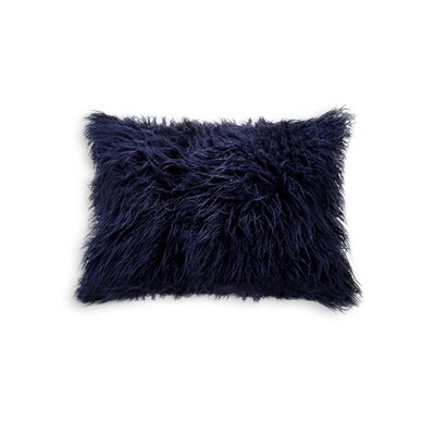 Frisco Faux Fur Lumbar Pillow Color: Ink