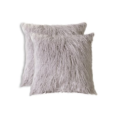 Frisco Faux Fur Throw Pillow Color: Sage Grey
