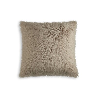 Frisco Faux Fur Throw Pillow Color: Tan