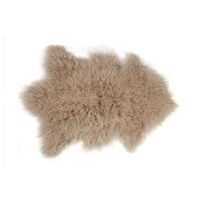 Rockwall Faux Sheepskin Tan Area Rug