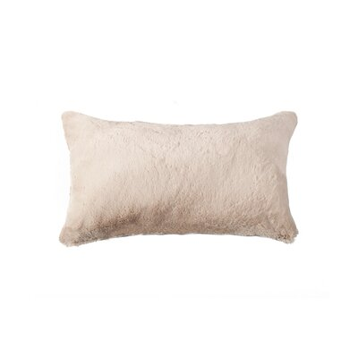 Sheba Rectangular Faux Fur Lumbar Pillow Color: Beige