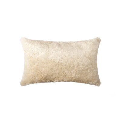 Sheba Rectangular Faux Fur Lumbar Pillow Color: Sand