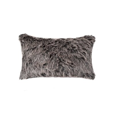 Sheba Wolf Faux Fur Lumbar Pillow