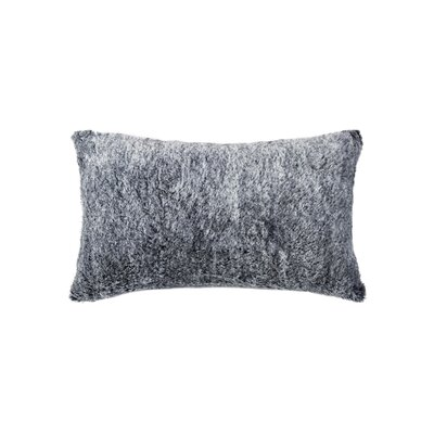 Sheba Rectangular Faux Fur Lumbar Pillow Color: Gray