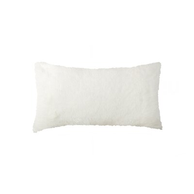 Sheba Rectangular Faux Fur Lumbar Pillow Color: Cream