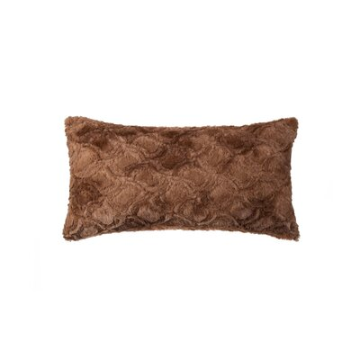 Sheba Brown Mink Faux Fur Throw Pillow