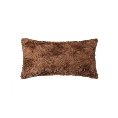Sheba Brown Mink Faux Fur Throw Pillow