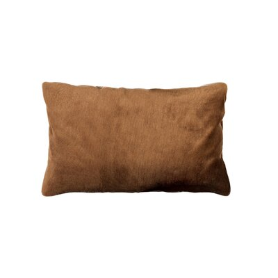 Sheba Coyote Faux Fur Lumbar Pillow Color: Coyote