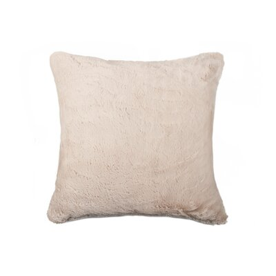 Sheba Square Faux Fur Throw Pillow Color: Beige