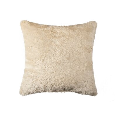 Sheba Square Faux Fur Throw Pillow Color: Sand