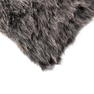 Sheba Wolf Faux Fur Throw Pillow