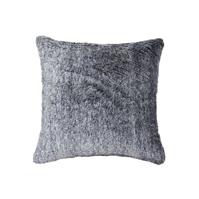 Sheba Square Faux Fur Throw Pillow Color: Gray